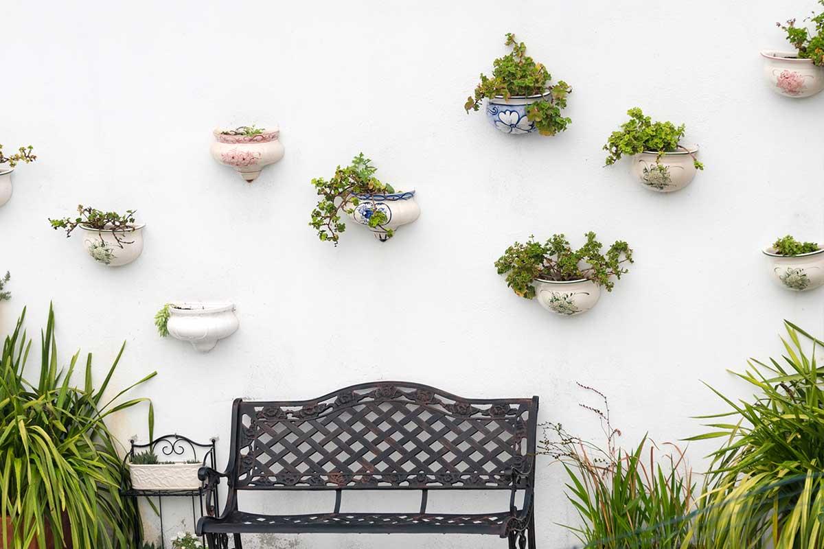 Décoration jardin d'une maison neuve + décoration verticale