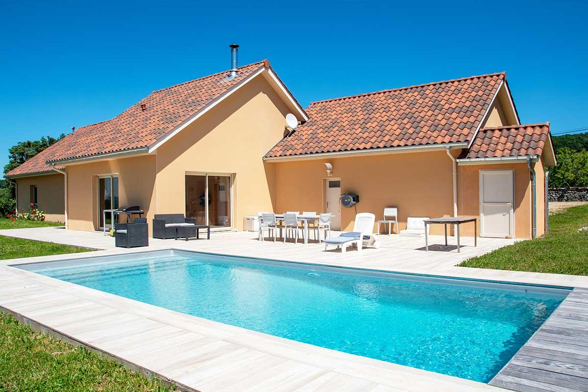 Maisons neuve avec piscine enterré