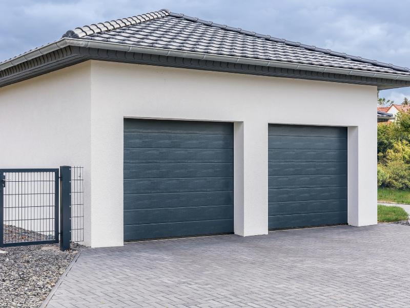 Double garage d'une maison
